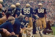 Rudy dressed in his Notre Dame  #45 jersey for the Georgia Tech Game